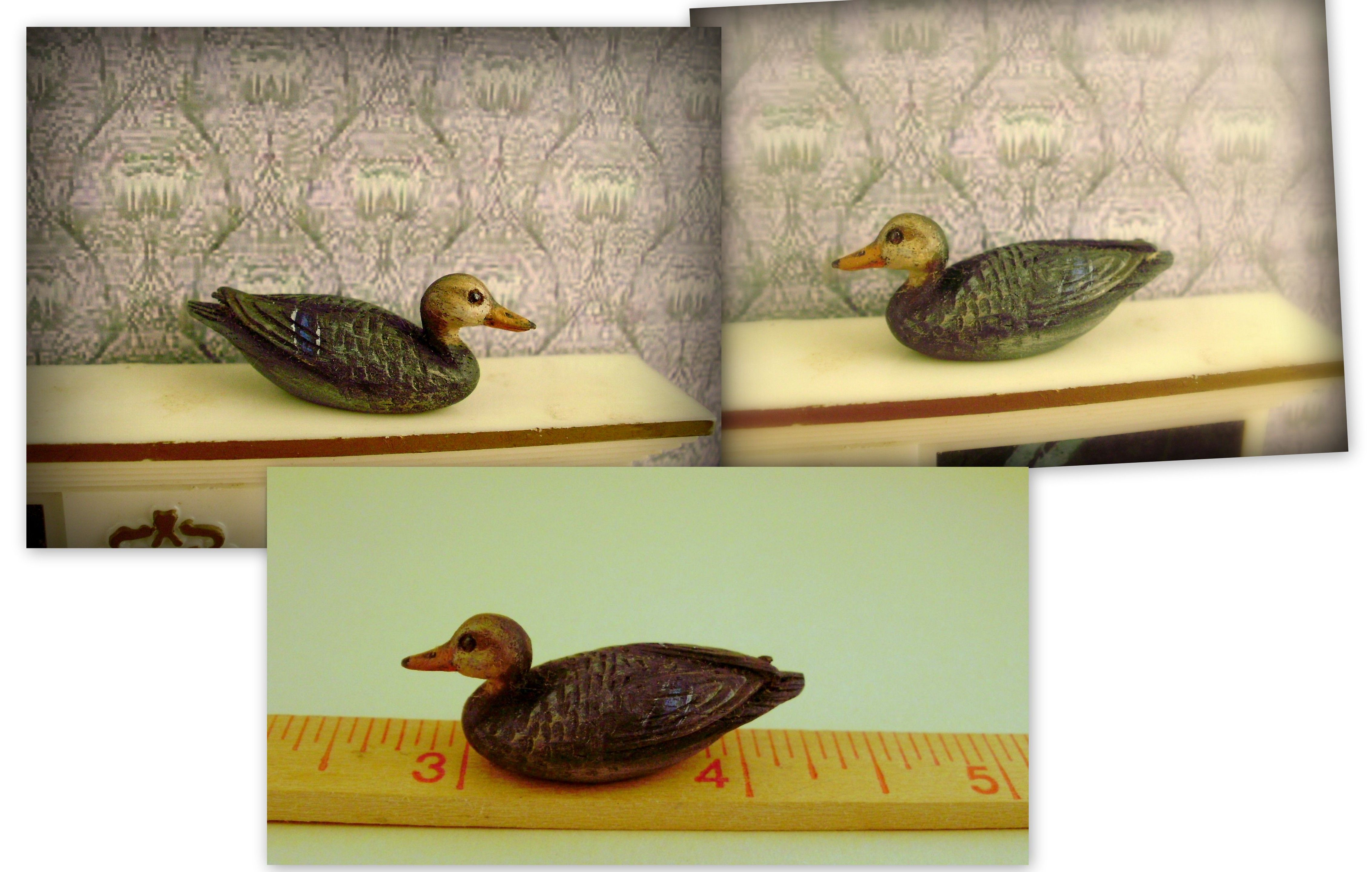 Hand carved wood Blackduck decoy