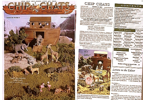 1:144 Noah's ark diorama featured on the cover of Chip-Chats magazine