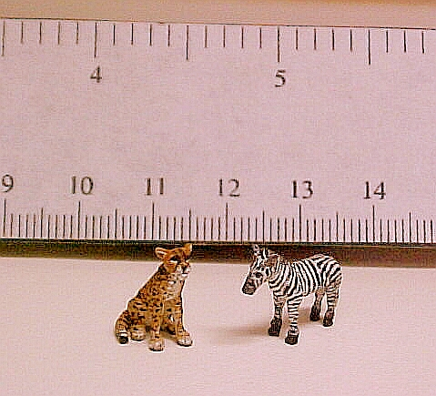 hand carved wood micro miniature animals